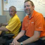 David with Dan Nolan in the GuideWell office