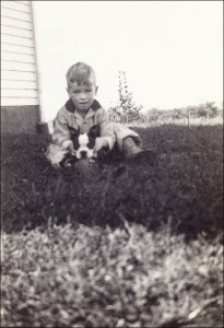 My great uncle, Paul, with a Boston Terrier in 1932